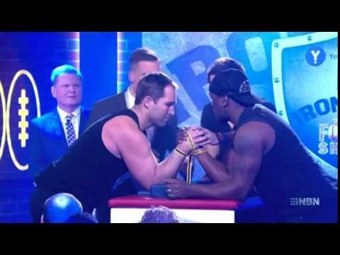 Bloke Snaps His Arm In The Iron Arm Wrestle Competition