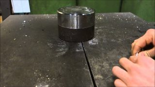 Bloke Tries To Fold Paper 7 Times With Hydraulic Press, Paper Wins
