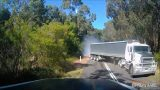 Extremely Close Call With A Semi-Trailer In Victoria