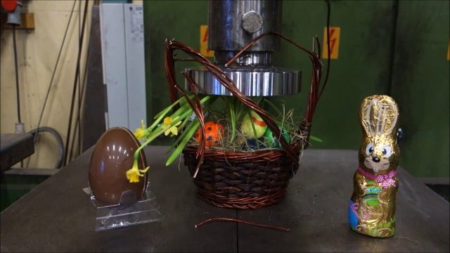Hydraulic Press Channel Releases An Easter Special