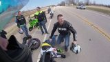 Motorcyclists Cheat Death As A Dog Runs Onto Road