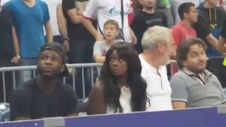 Woman Has Culture Shock At European Basketball Game