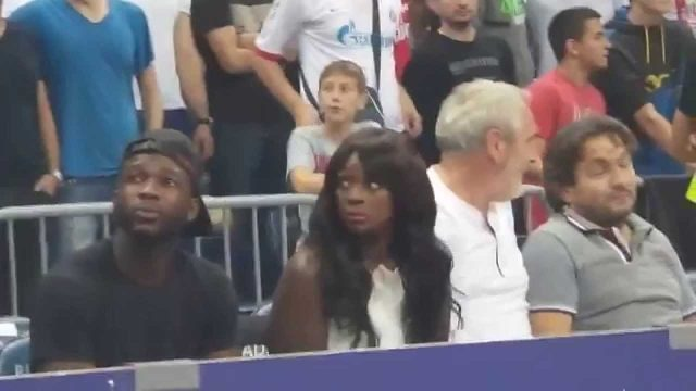 Woman Has Culture Shock At European Basketball Game