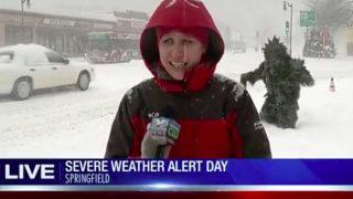 Live Winter Weather Report Interrupted 'Pot Sasquatch'
