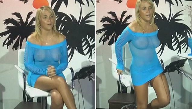 Cable TV Host With See-Through Dress Forgets To Wear Bra
