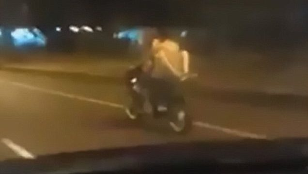 Couple Caught Having Sex On The Back Of A Moving Motorbike