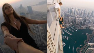 Smoking Hot Russian Model Dangles From A Skyscraper To Get More Instagram Followers