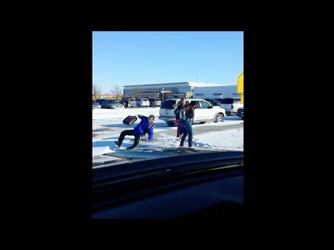 Ozzy Man Commentates Teenagers Slipping on Ice