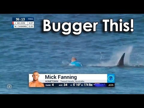 Ozzy Man Commentates Mick Fanning vs Shark