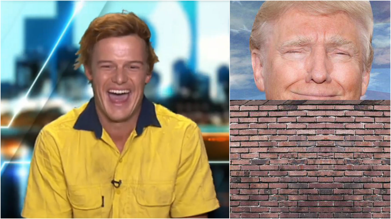 Aussie Builder Gets Asked To Give A Quote On Trump's Wall, His Response Is Brilliant