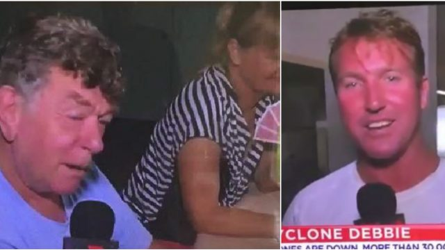 Ozzy Guy Tells X-rated Joke During Cyclone Interview, Reporter Goes Bright Red