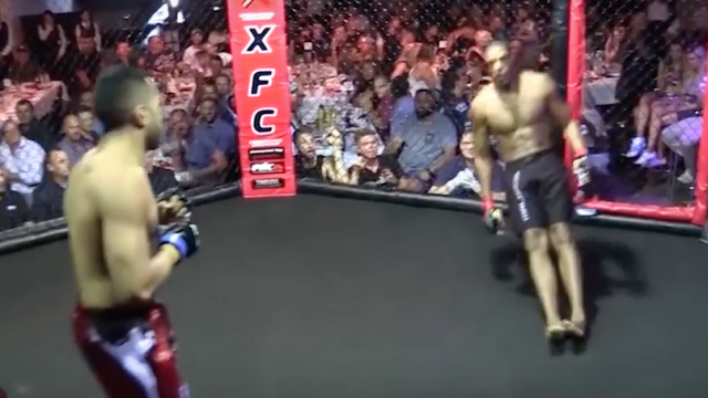 """WATCH: The First Ever """"No Touch"""" KO In Professional MMA History"""
