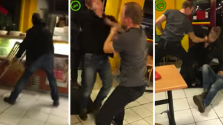 Two Drunk Assholes Run Riot In Chinese Restaurant, Hero Steps In And Deals To Them