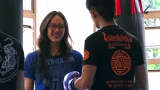 Female Muay Thai Champ Dresses Like A Nerd, Enters A Gym, And Challenges Dude To A Fight