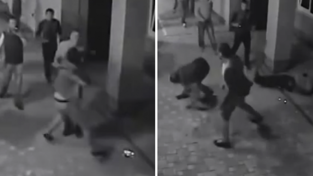 Russian Gang In Street Brawl With Professional Boxer