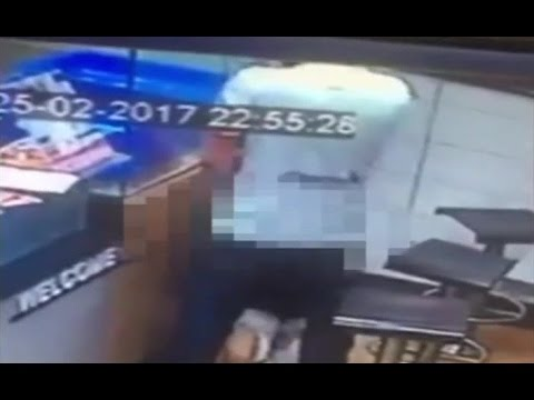 Couple Caught On Camera Trying To Have Sex At Dominos Counter While Waiting For Pizza Order