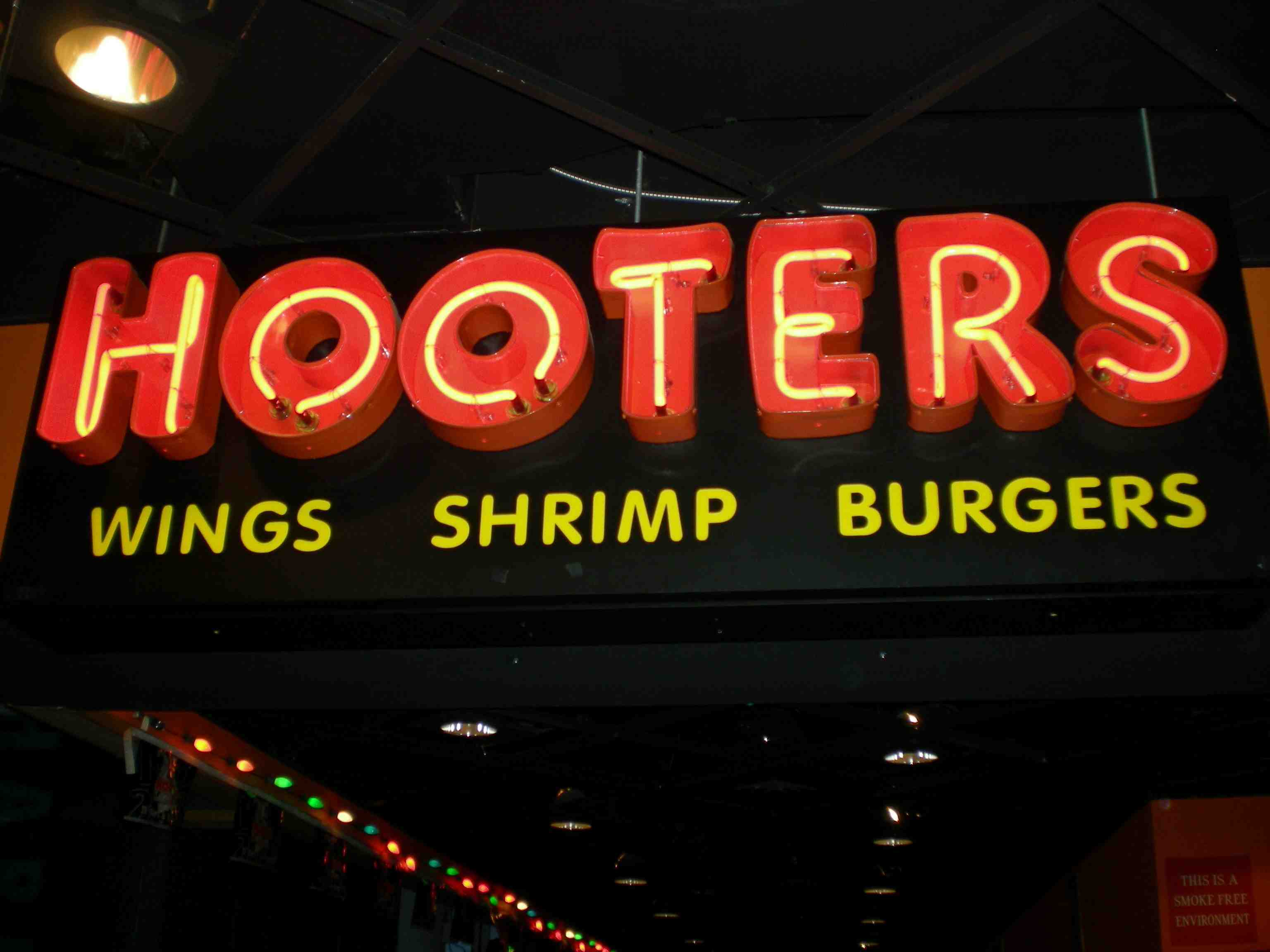 "Hooters - best known for their ""burgers"""