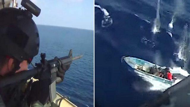 WATCH: Gunfight Between Somali Pirates and Private Security Mercenaries