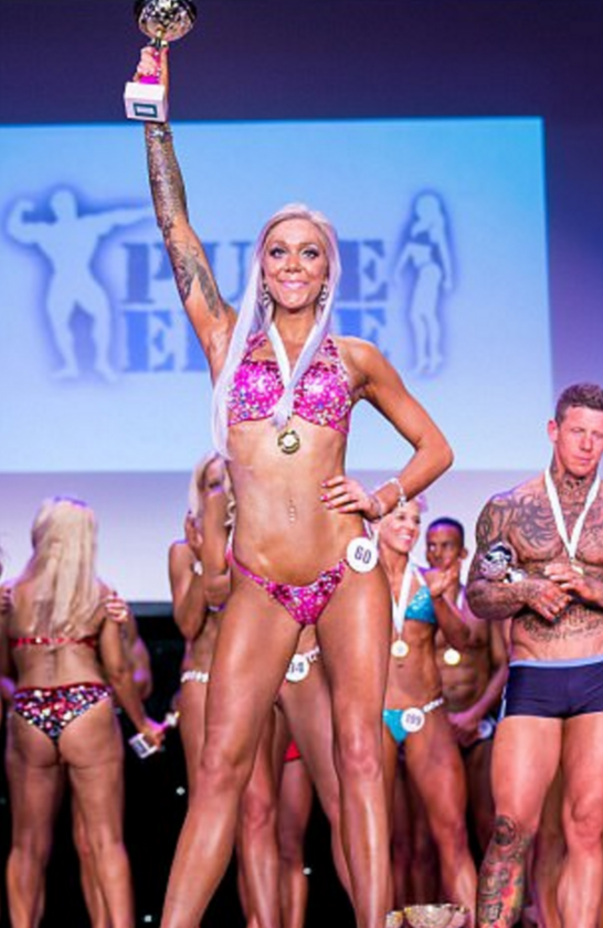 The 24-year-old was crowned champion in the best body transformation category at Pure Elite's UK championships last weekend.