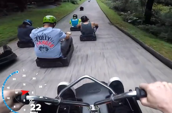 WATCH: Pro Biker Takes On The Skyline Rotorua Luge Track in New Zealand, The Result Is Awesome