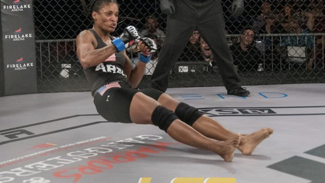 "LFA9 Women's MMA Fight Featured A BRUTAL ""Fencing Response"" KO"