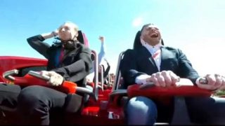 Man Gets Hit In The Throat With A F*cken Pidgeon While Riding A Roller Coaster!