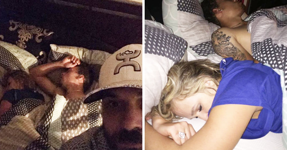 Bloke Finds His Girlfriend Cheating On Him, Sets Up Photoshoot While They Sleep In His Bed