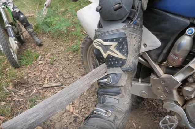 Dirt Biker Rips Spear Out Of His Leg And It Is F*cking Horrific