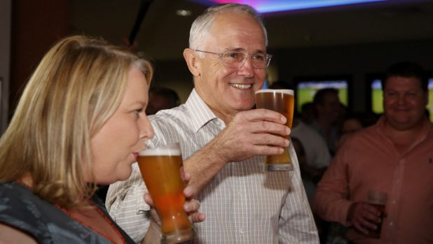 Credit: Sydney Morning Herald - Australian pollies famously unafraid to share a pint down the pub