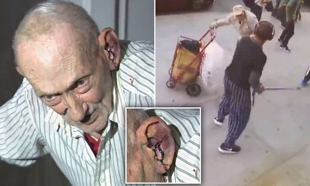 Douchebag of the Century Attacks 91 Year Old Man, Bystanders Respond