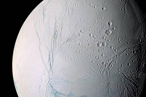 Source: Nasa - Colour enchanced image of Enceladus