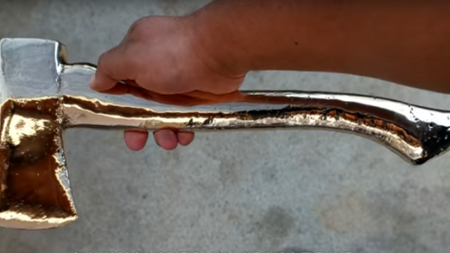 Guy Makes Own Bronze Axe, Proceeds To Slice Himself Open With It