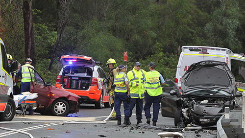 Credit: Daily Telegraph - March 2017 crash on Wakehurst Parkway