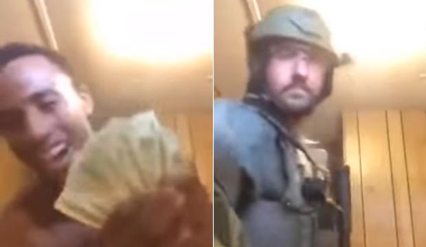 Idiot Drug Dealer Gets Raided While Flashing Drug Money On Facebook Live