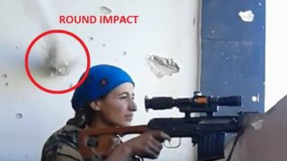 Female Sniper's Badass Reaction To Nearly Getting Head Blown Off By ISIS Militant Goes Viral