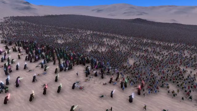 Watch 300 Jedi Absolutely Slaughter 60,000 Medieval Soldiers In Epic Battle Simulation