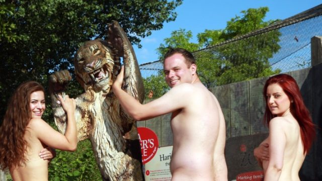 Explicit Content: Zookeepers At London Zoo Bare All for Charity