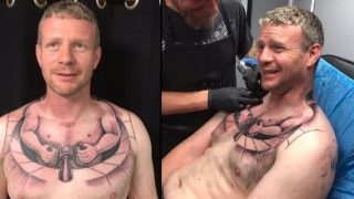 Truck Driver Gets Mind Bending Tattoo Of Tiny Man Driving His Own Body
