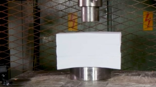 Hydraulic Press Channel Takes On 3 Ream's of Paper – The Result Is Loud As F*ck