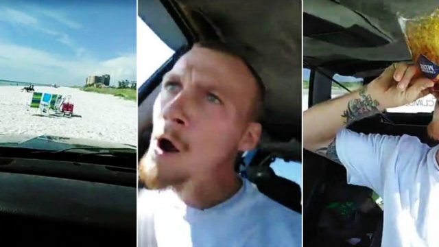 Crazed Drunk Driver Attempts to Re-enact GTA In Real Life While Live Streaming on Facebook