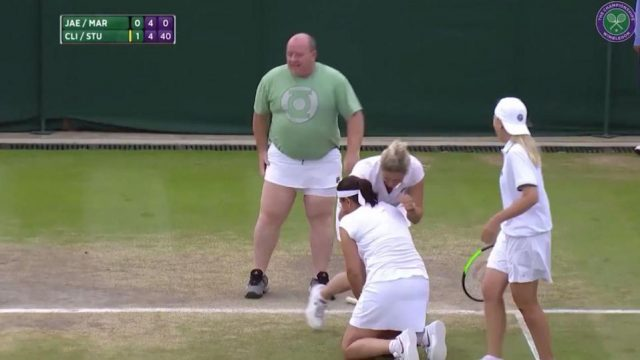 Hilarious Moment Irish Heckler Invited onto Wimbledon Court to Play With Tennis Legends