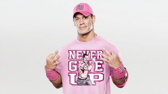 Real men don't wear pink. You tell him. (Credit: WWE)