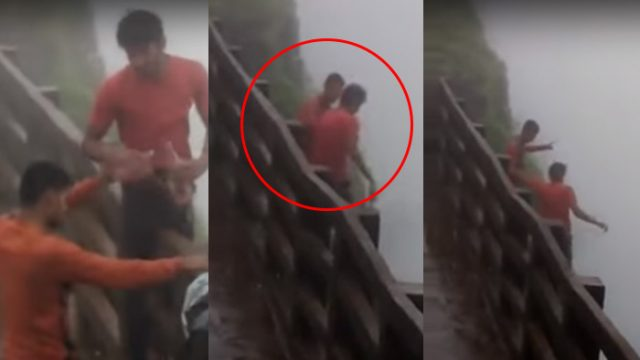 Two Drunk Guys Gamble With Their Lives On A 2,000 Foot High Cliff