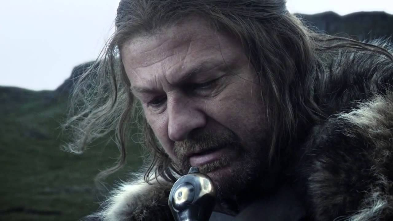 I imagine this is how Sean Bean holds the microphone when he sings karaoke. (Credit: YouTube)
