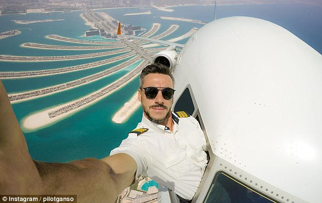 PICS: Pilot Creates Photos of Himself Cruising With The Windows Down