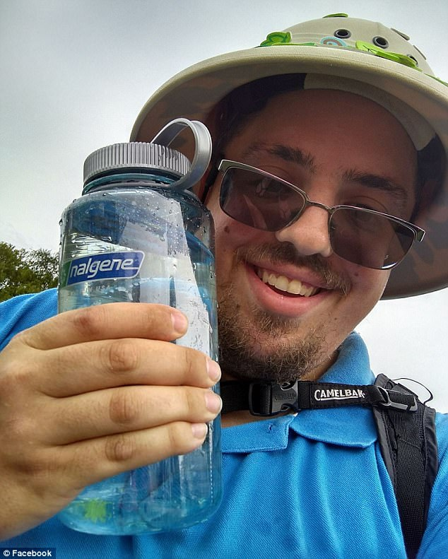 Alex and his Camelbak of...uhm...water? (Credit: Facebook)