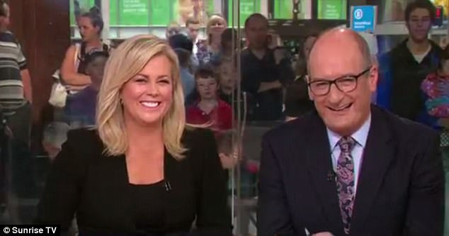 Samantha and Kochie. Despite the nudists, they're still the biggest d***s on the screen. Credit: Channel 7
