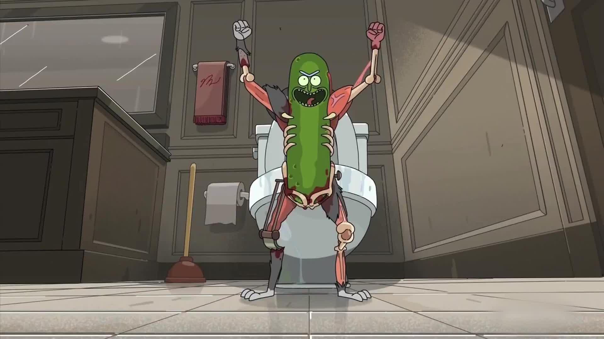 Pickle Rick. Just because. (Credit: Adult Swim)