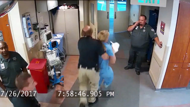Deputy Dipsh** gives her a taste of his own off the cuff policy.  (KTXS/YouTube)