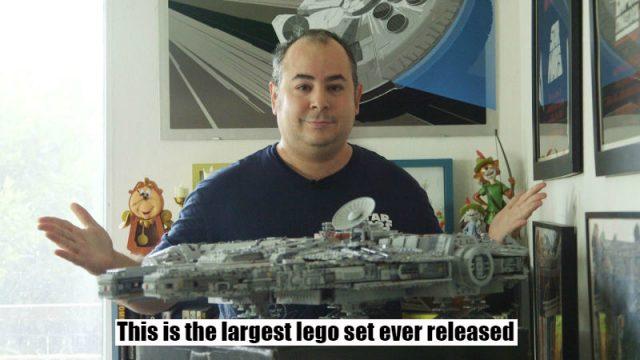 Epic Time-lapse of Bloke Building New 7,500 Piece Lego Millennium Falcon